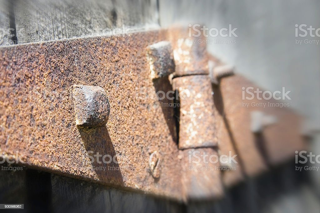Rusty Hinge royalty-free stock photo
