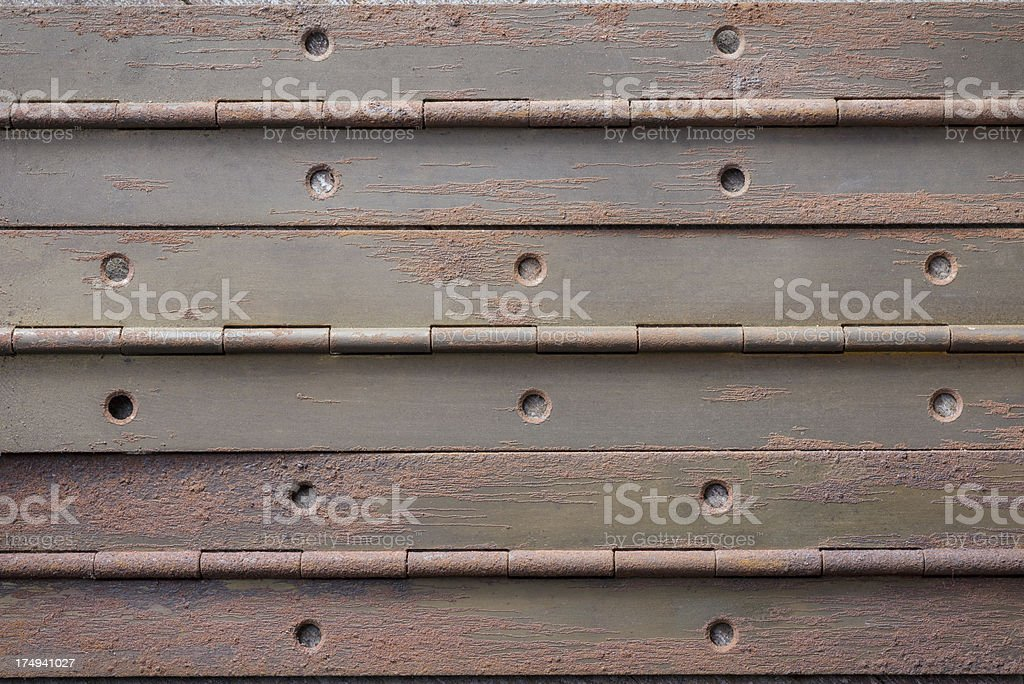 rusty hinges royalty-free stock photo