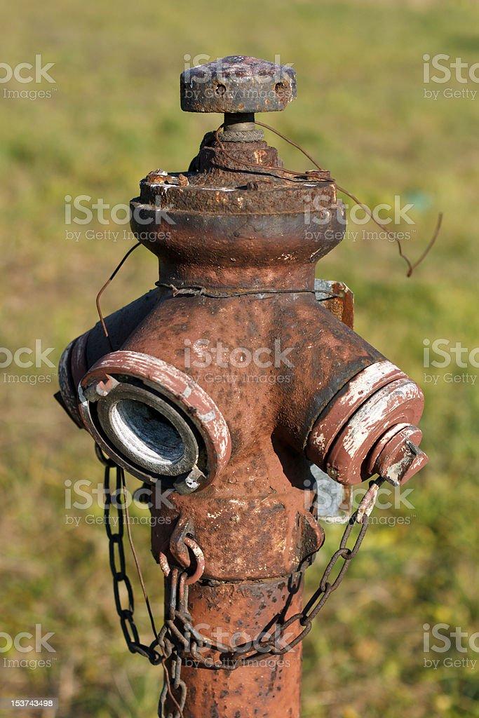 Rusty hydrant stock photo