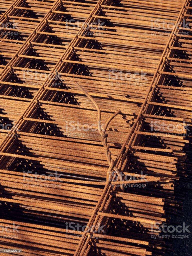 Rusty iron armature stock photo