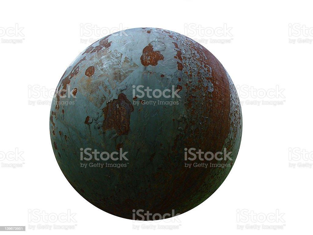 rusty iron ball stock photo