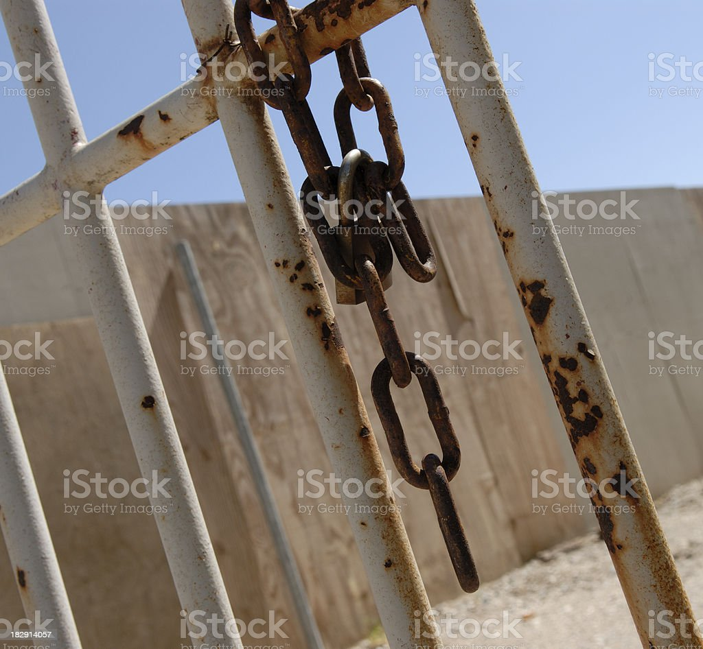 Rusty Iron Chain royalty-free stock photo