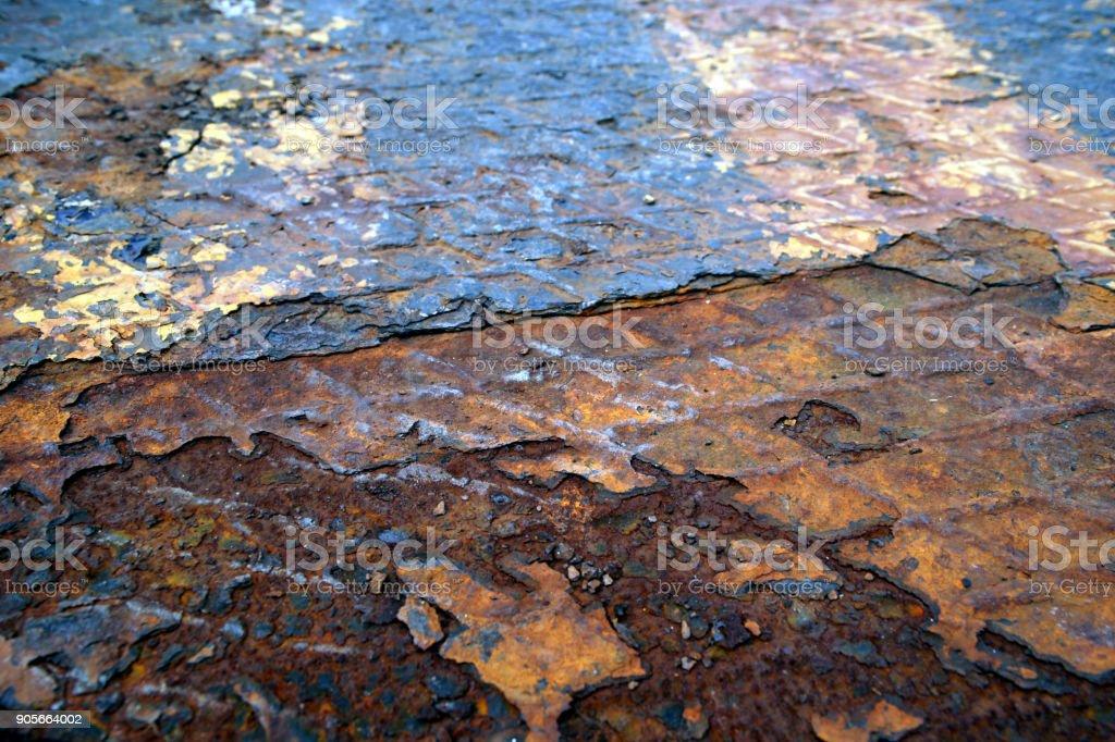 rusty iron plate stock photo