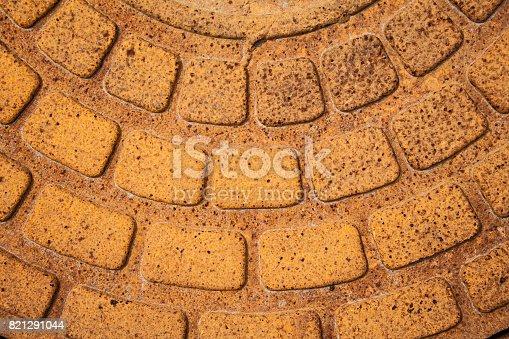 Rusty iron city sewer hatch. background, texture, design.Rusty iron city sewer hatch. background, texture, design.
