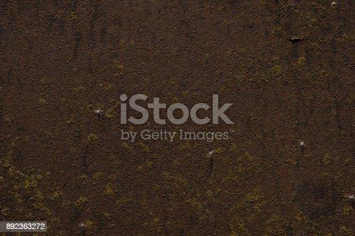 istock Rusty Iron Sheet - Vintage Metallic Background with Beautiful Texture in Retro Style 892363272
