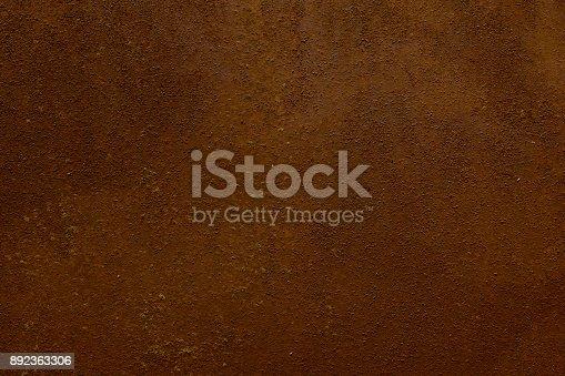 istock Rusty Iron Sheet - Vintage Metallic Background with Beautiful Texture in Retro Style 892363306