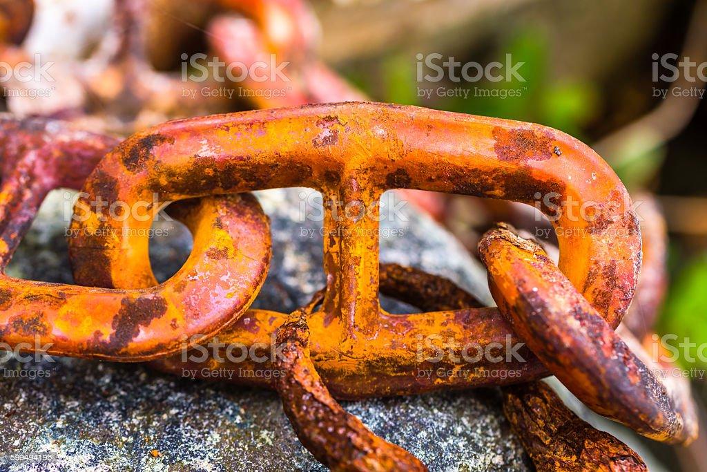 Rusty link stock photo