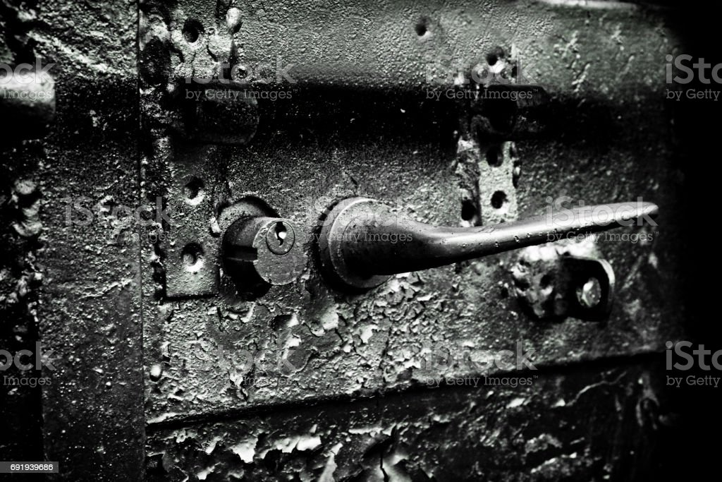 Poignée et serrure rouillée - Photo