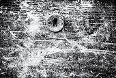istock Rusty lock on old door, colorless 1033700456