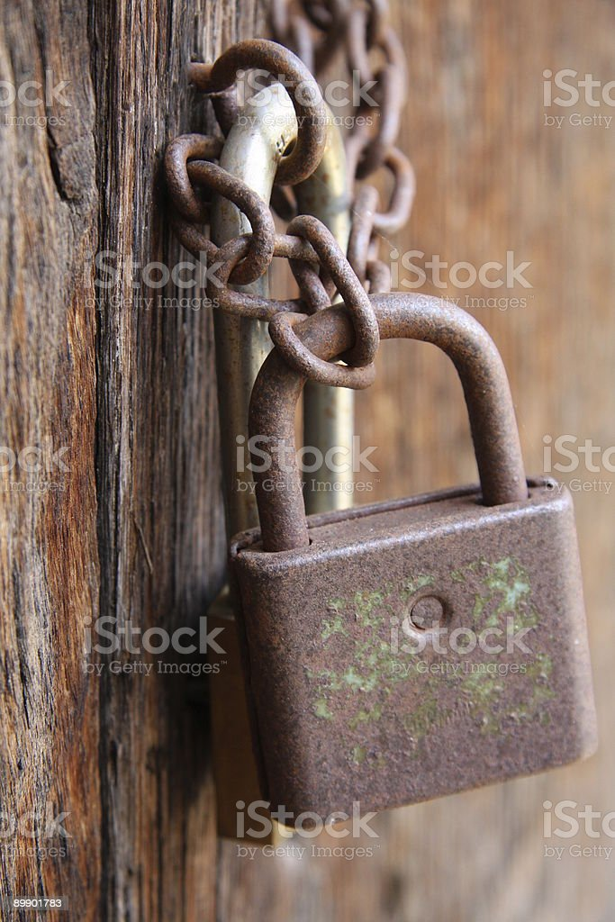 Rusty Lock royalty free stockfoto