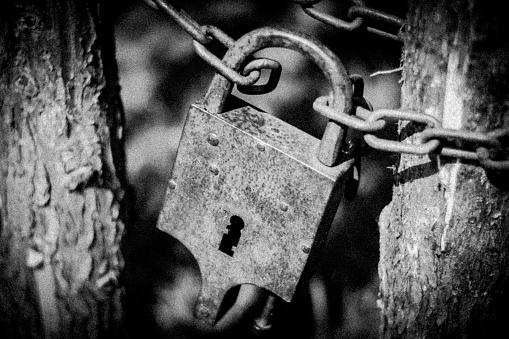 Roestige Vergrendelen Stockfoto en meer beelden van Beveiliging