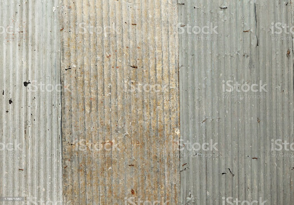 rusty looking zinc wall that can be seamlessly tiled royalty-free stock photo