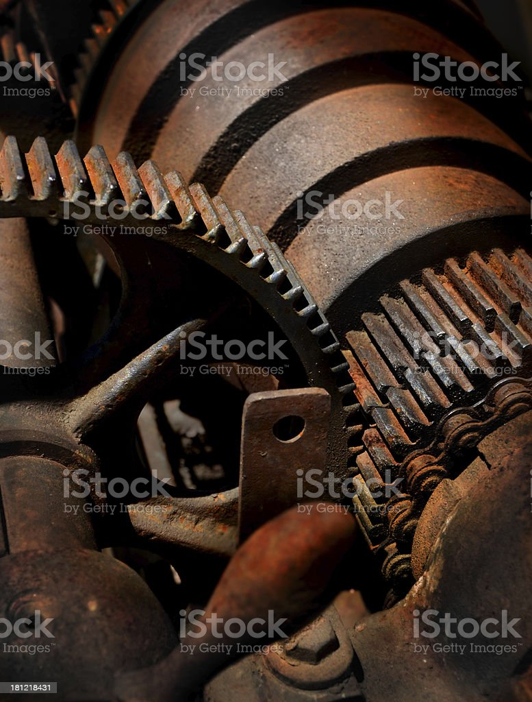 Rusty Machine and Gears royalty-free stock photo