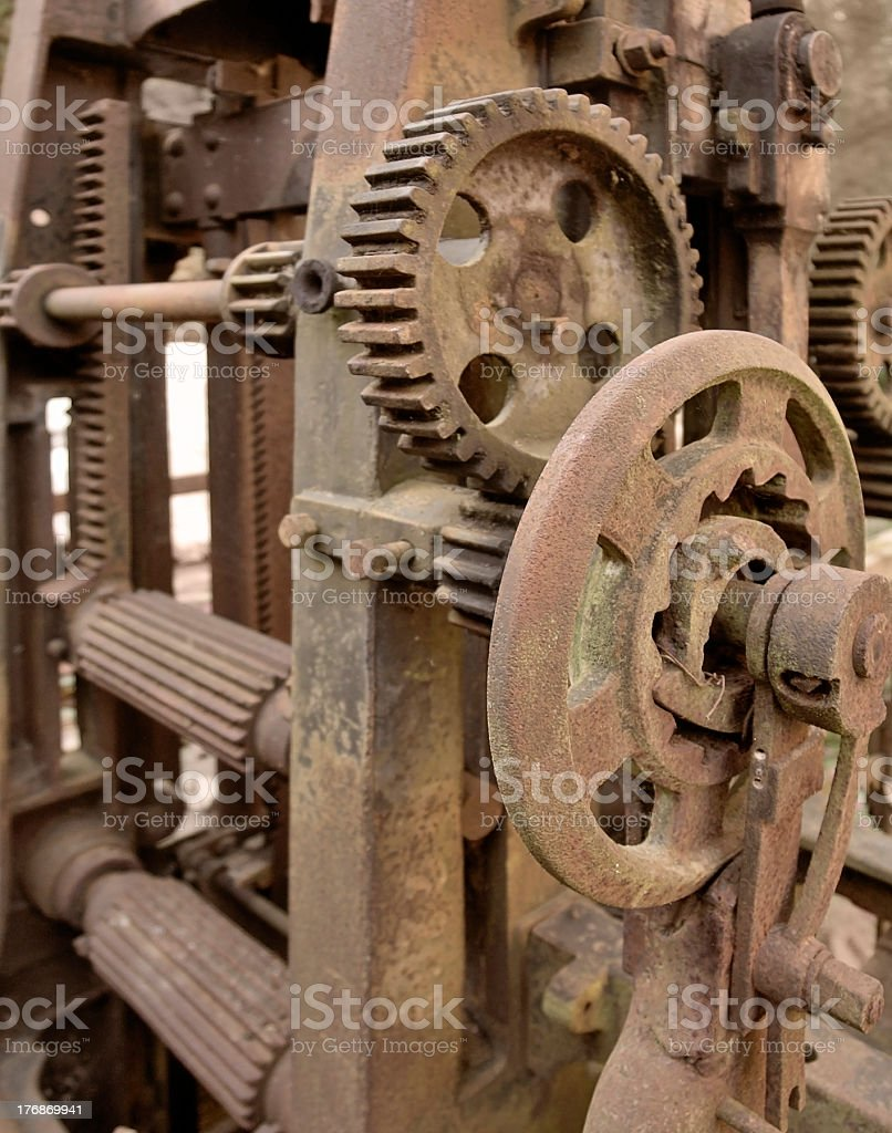 rusty machine detail stock photo