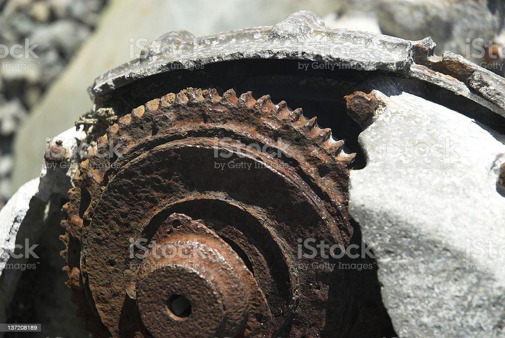Rusty Machine stock photo