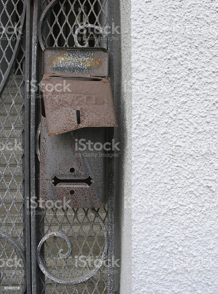 Rusty Mailbox royalty-free stock photo