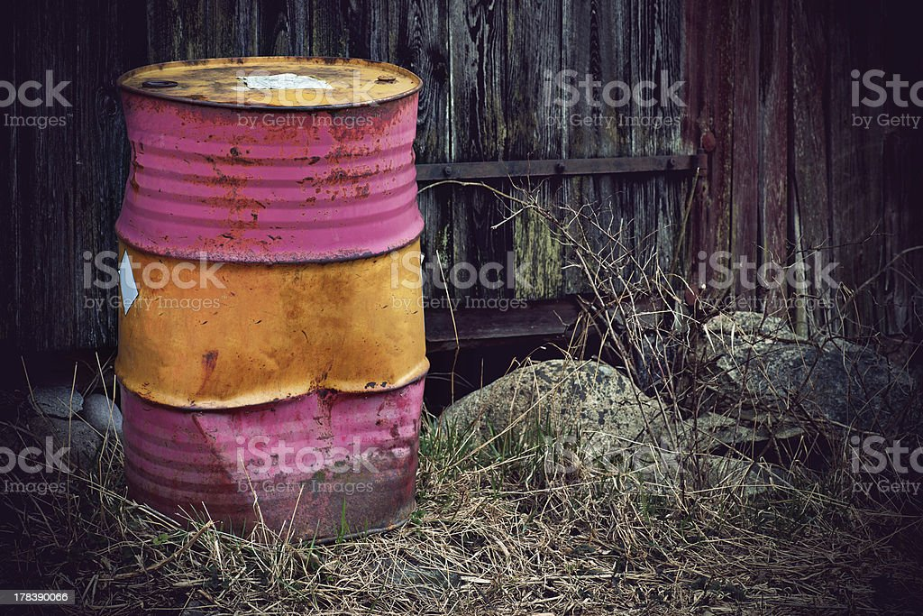 rusty metal barrel royalty-free stock photo