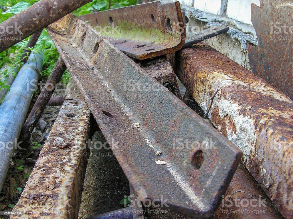 Rusty metal corner royalty-free stock photo