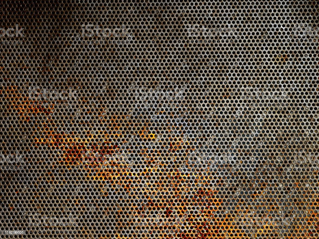 Rusty Metal Grid stock photo