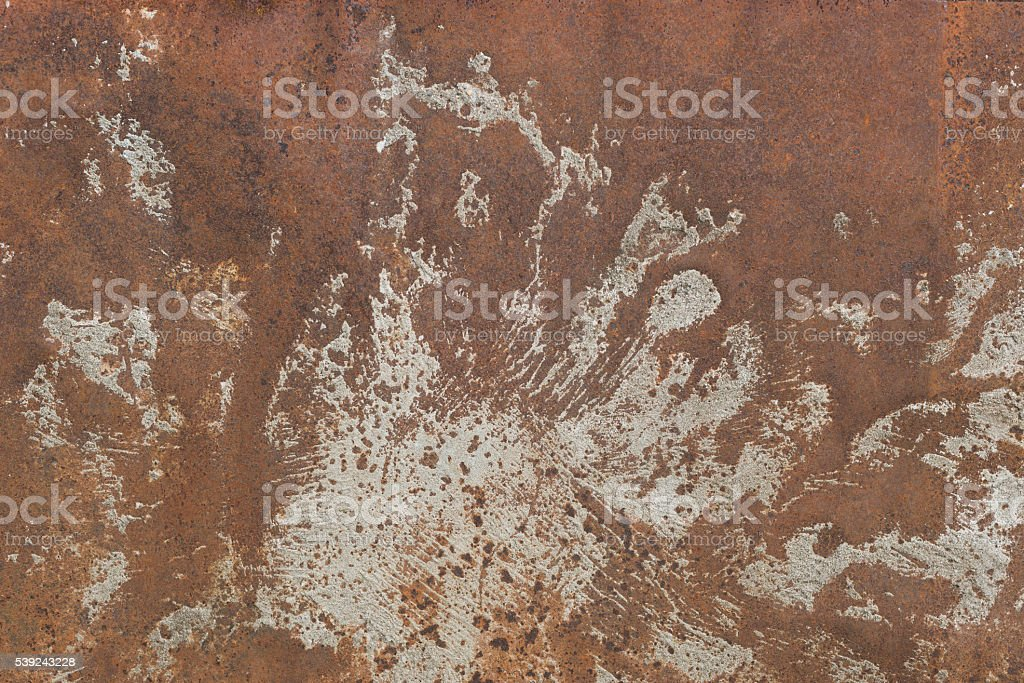 rusty metal leaf for  text or image textured background royalty-free stock photo