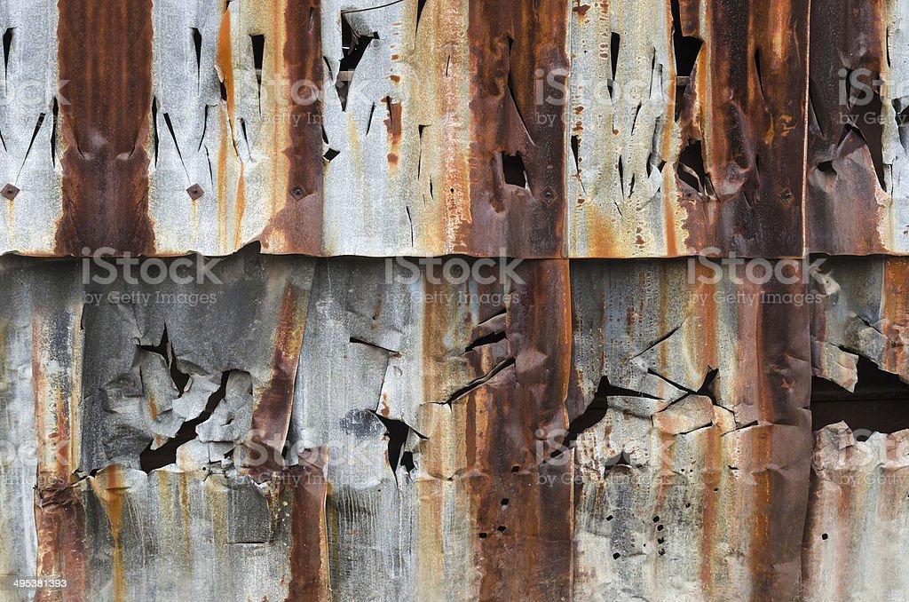 Rusty metal pattern stock photo