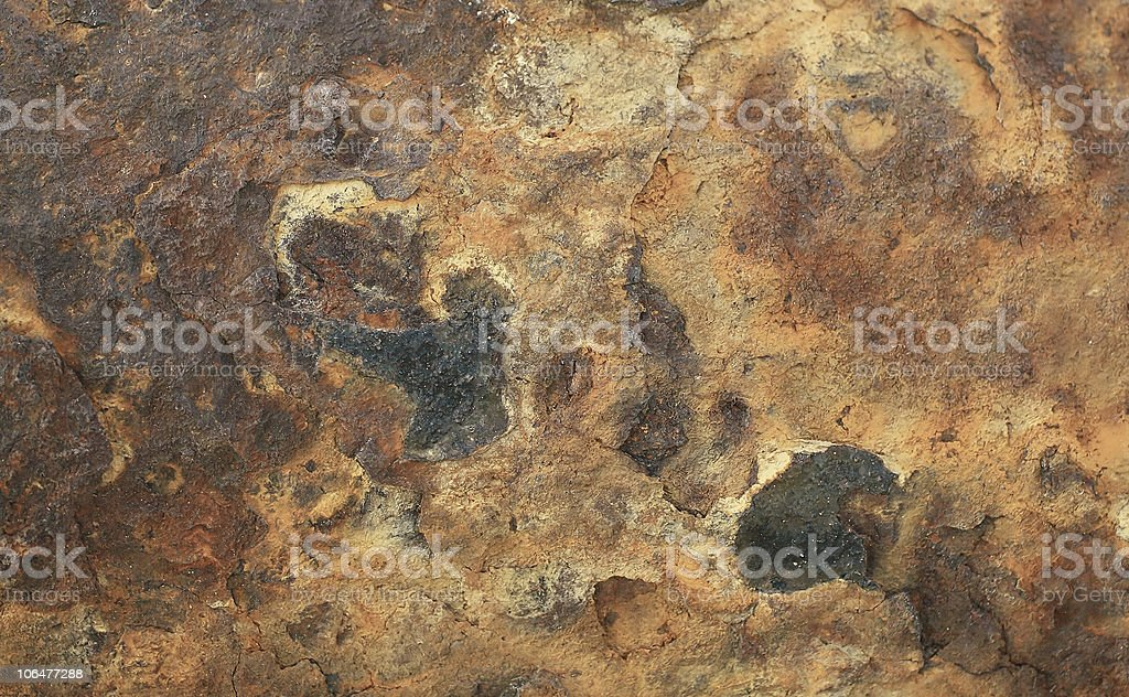 Rusty metal surface texture royalty-free stock photo