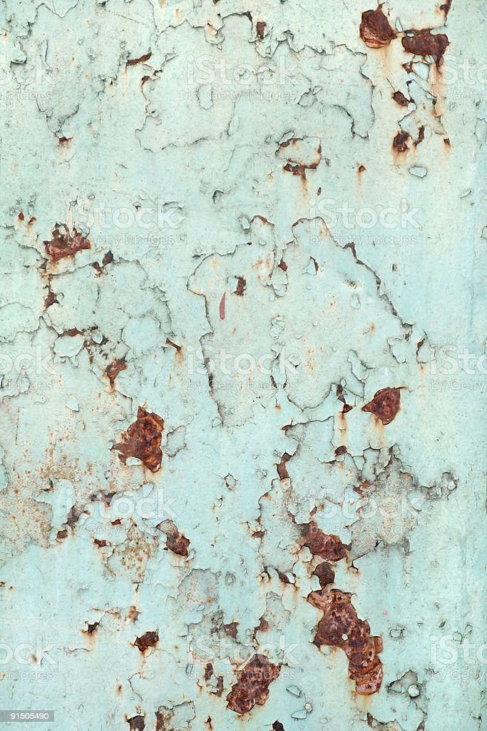 rusty metal surface with old paint stock photo