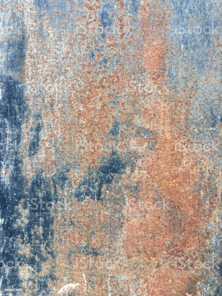 Rusty metal surface with rich and various texture - Royalty-free Abandoned Stock Photo