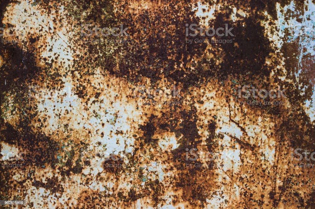 Rusty metal texture background. - Foto stock royalty-free di Acciaio