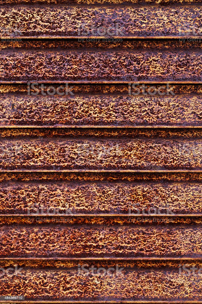 rusty metal texture of horizontal lines stock photo