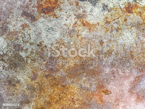 istock Rusty metal textured background 908904314