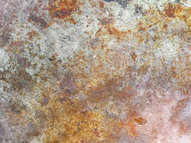 Rusty metal textured background stock photo