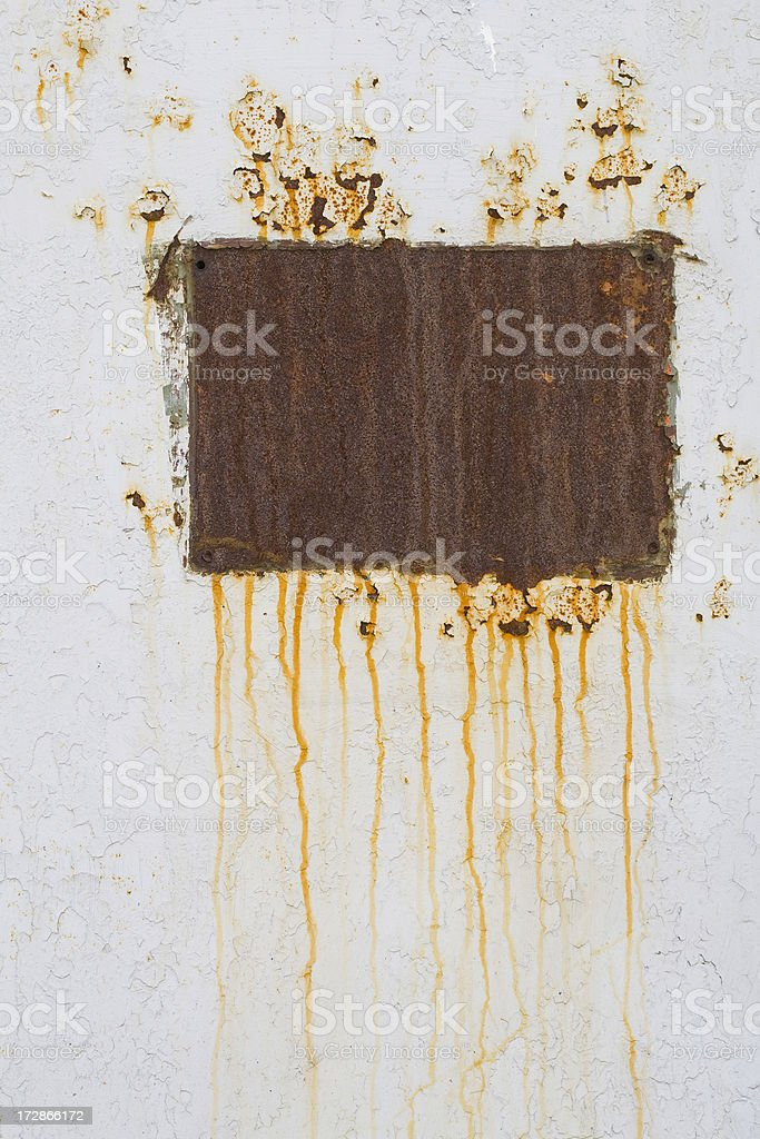 Rusty metal trace royalty-free stock photo