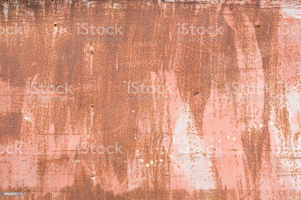 Rusty metal wall royalty-free stock photo