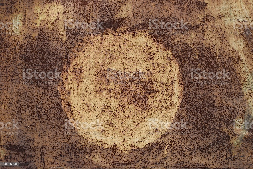 rusty metal with a round spot royalty-free stock photo