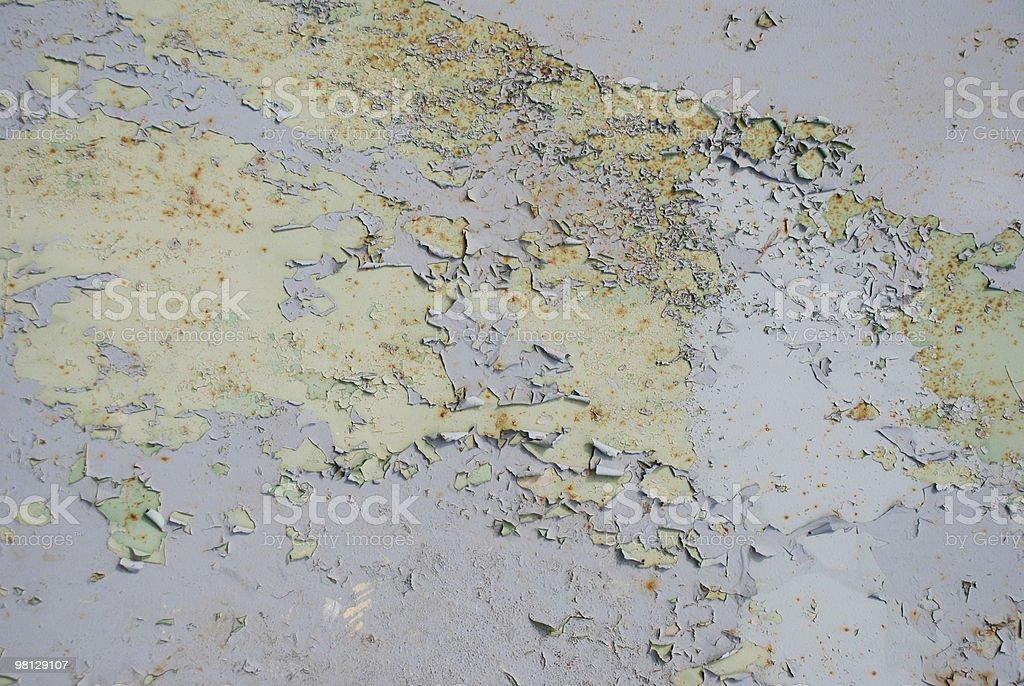 rusty 금속면의, 박리 페인트 royalty-free 스톡 사진