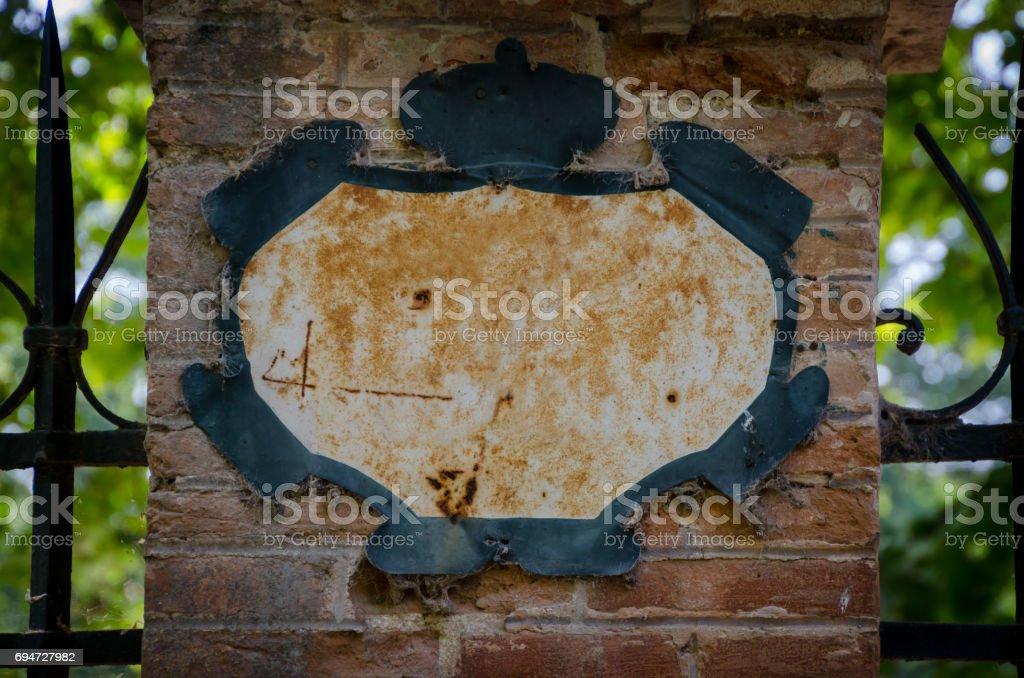 rusty metallic plate stock photo