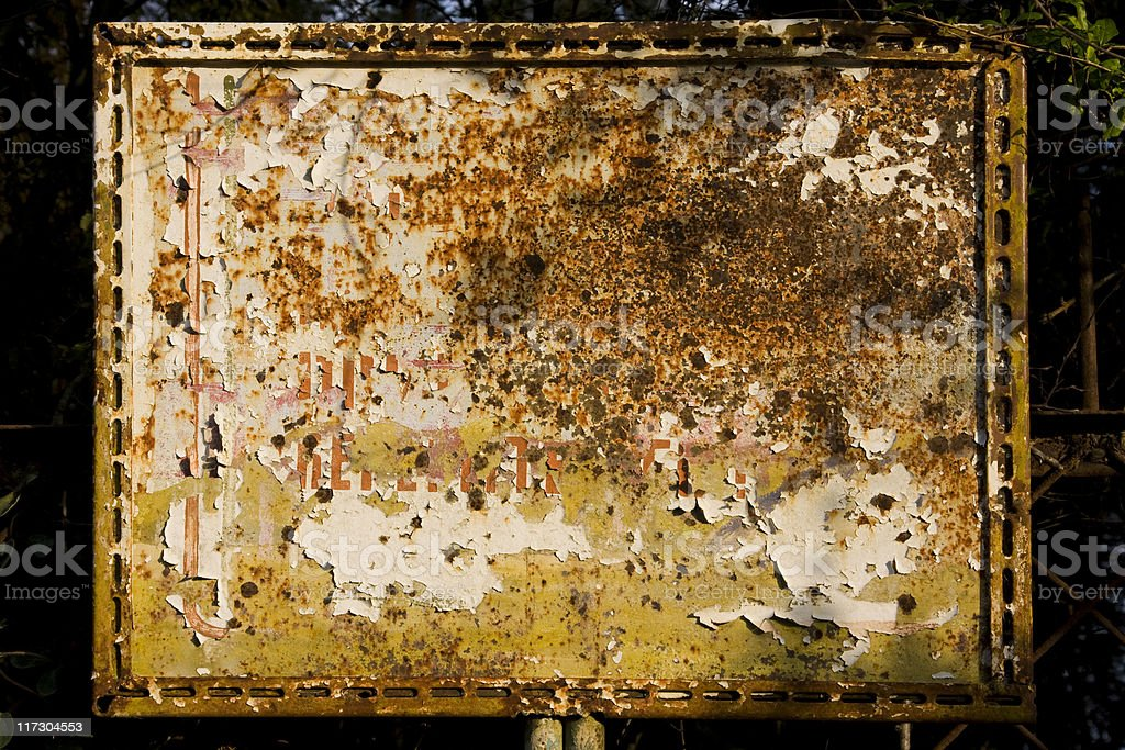 Rusty metallic Signboard royalty-free stock photo