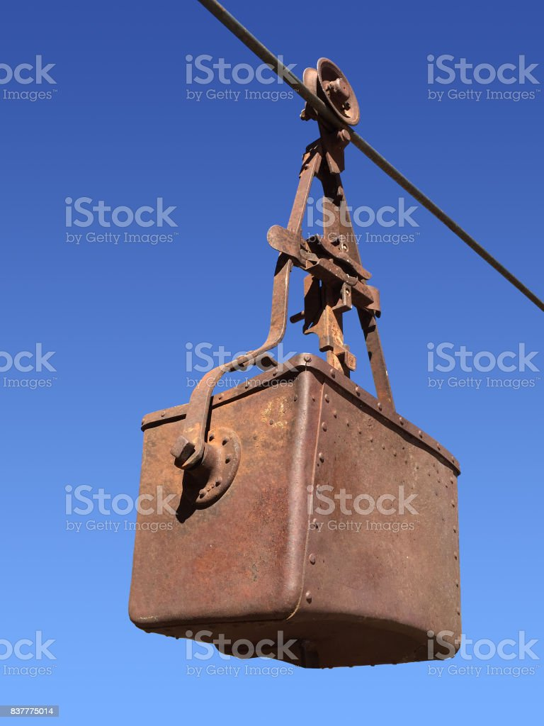 Rusty mining bucket stock photo
