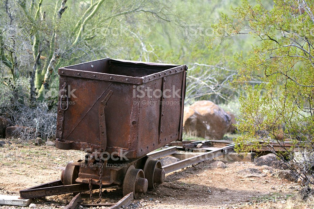 Rusty Mining Car stock photo
