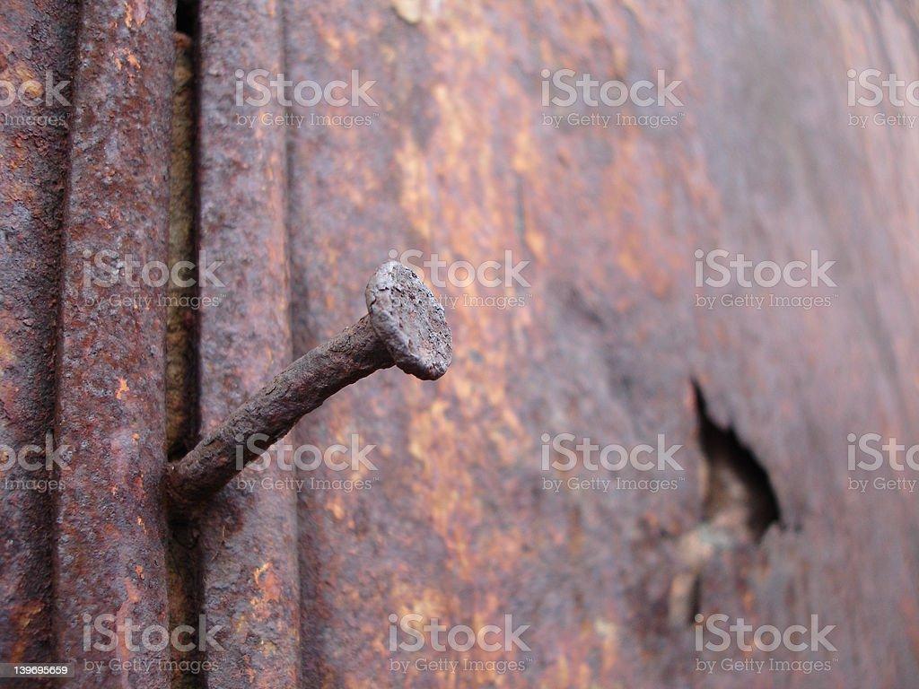 Rusty Nail royalty-free stock photo