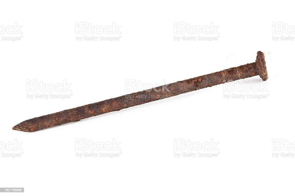 Rusty nail stock photo