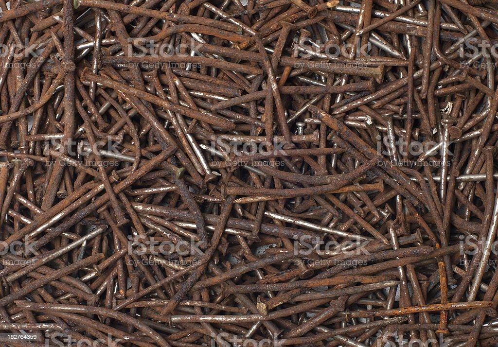 Rusty nails. royalty-free stock photo