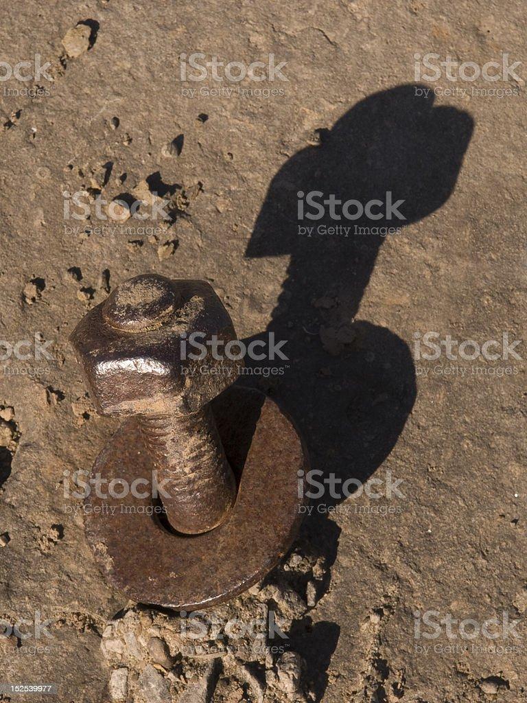 Rusty Nut & Bolt royalty-free stock photo