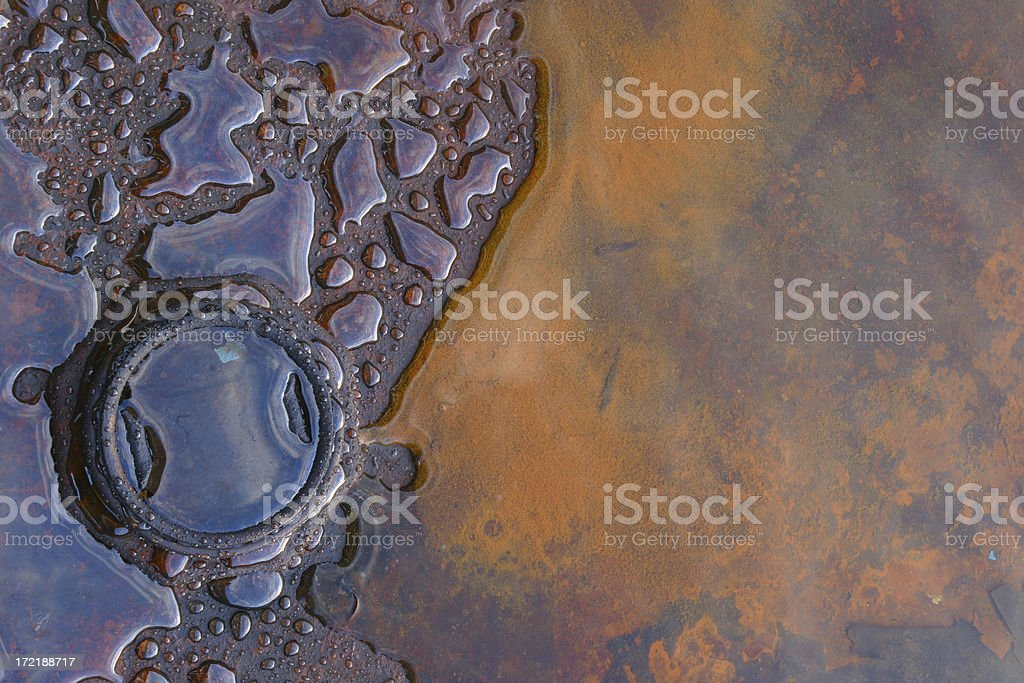 Rusty oil barrel royalty-free stock photo