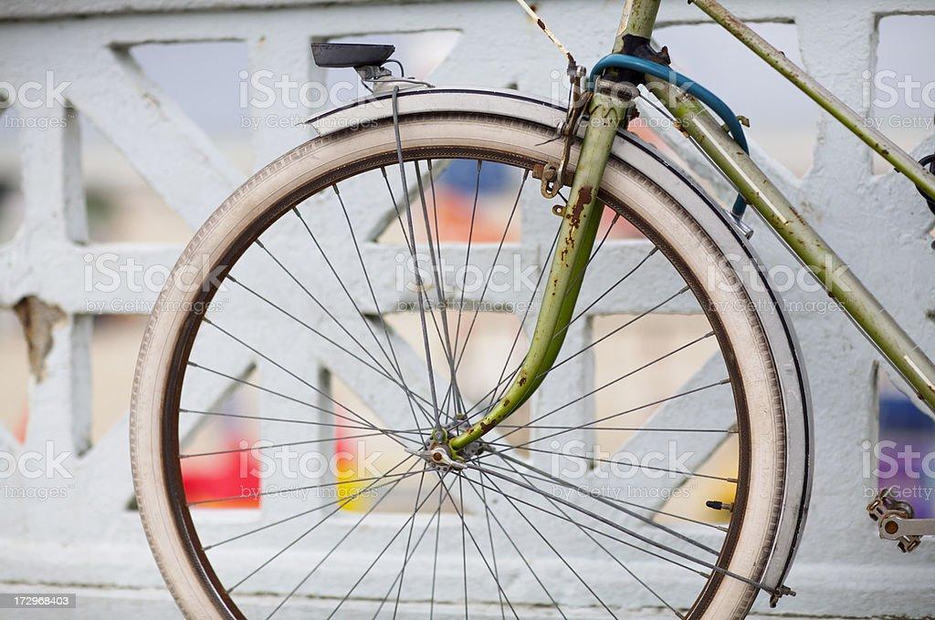 Rusty old bike royalty-free stock photo