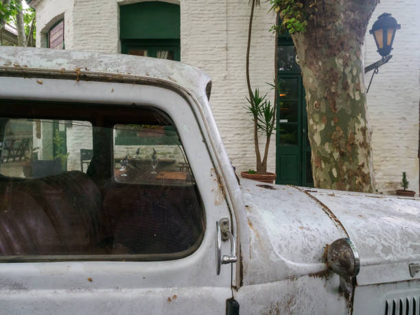 rusty old car - stephen lynn stock pictures, royalty-free photos & images