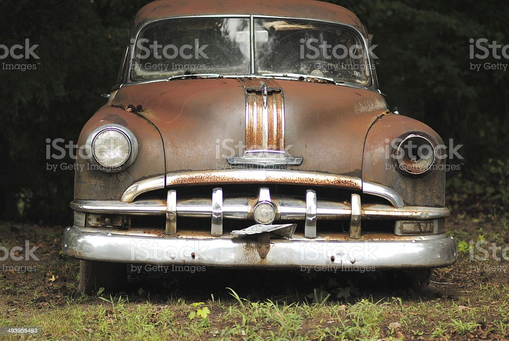 Rusty Old Car stock photo