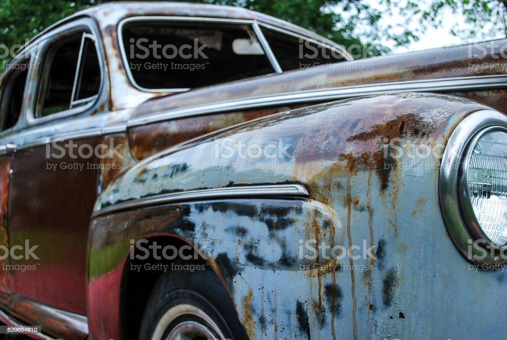 Rusty, Old Car stock photo
