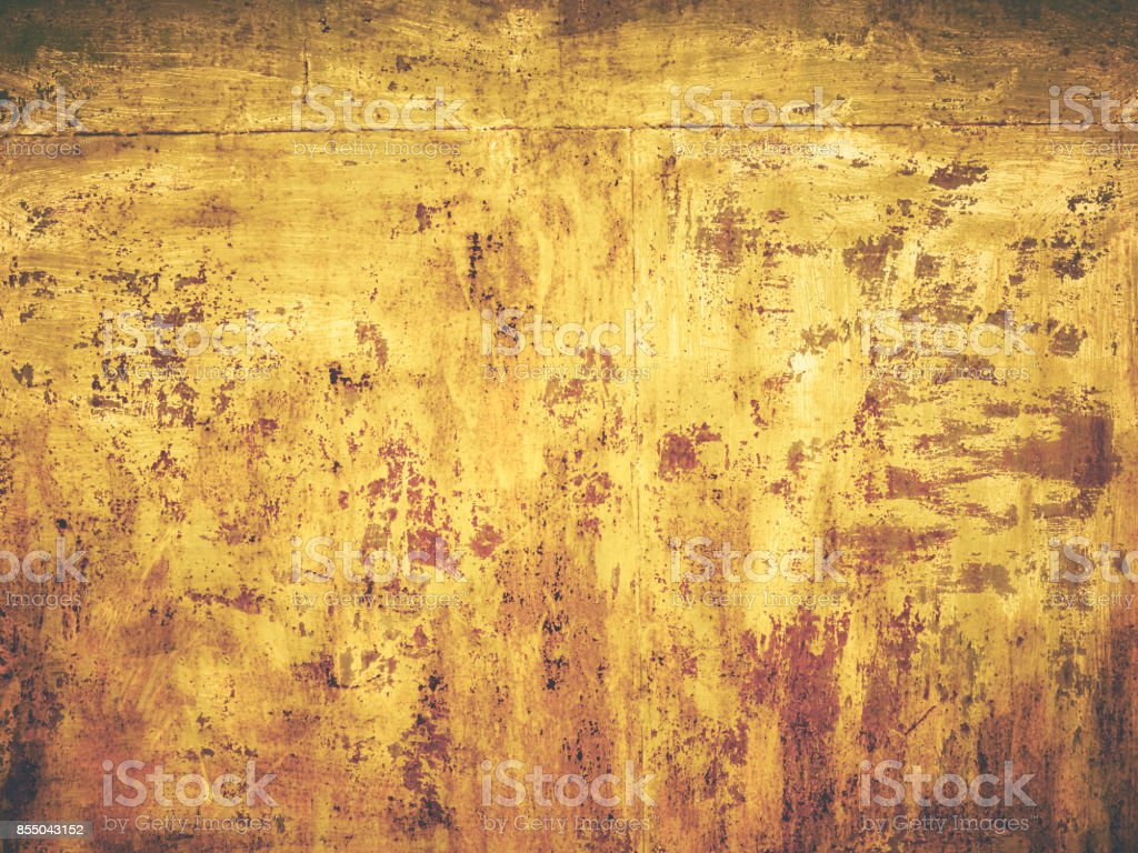 Rusty Old Color Grunge Yellow Wall Texture Background Stock Photo ...